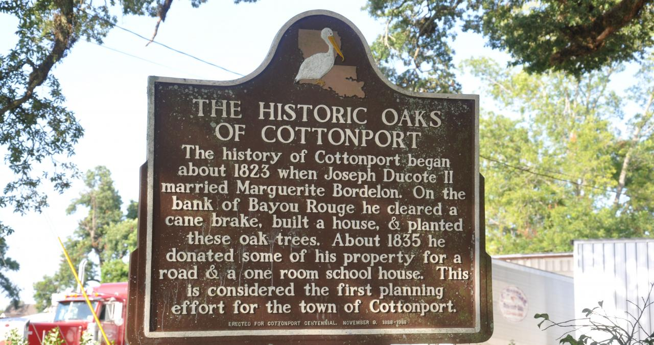 Oaks of Cottonport Sign