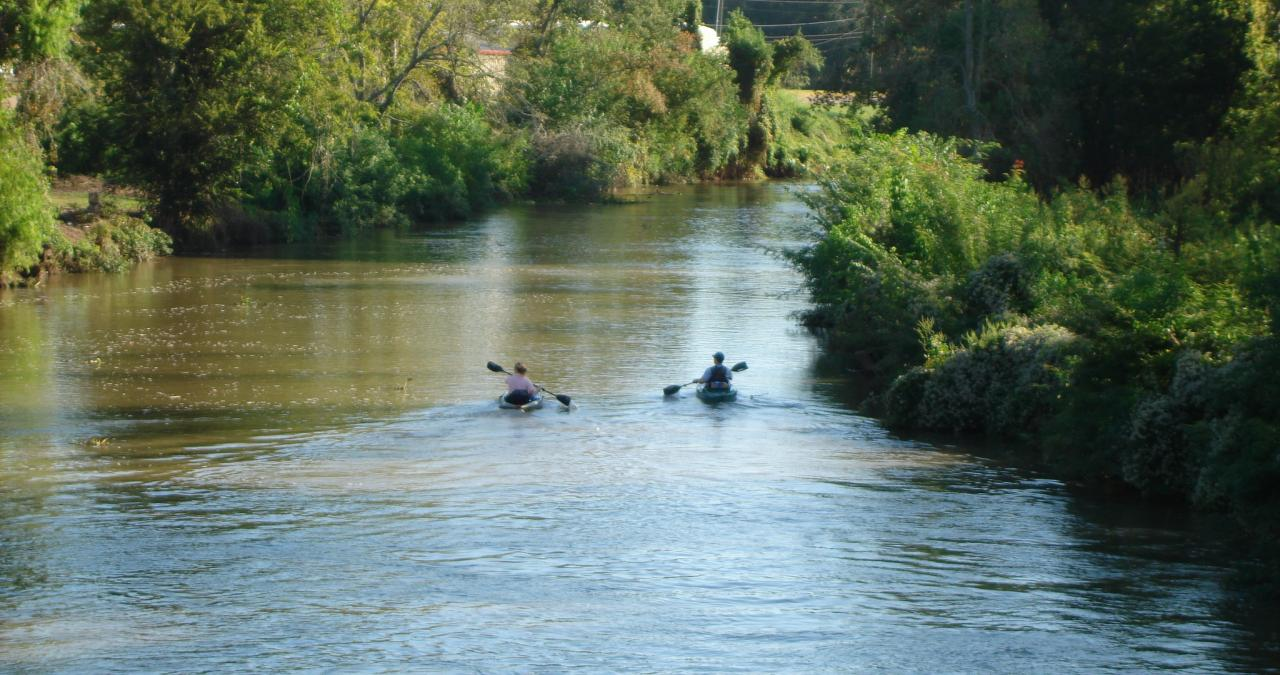 Paddling down Bayou Teche